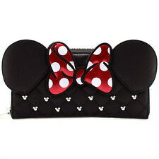 "NEW Loungefly X Disney Black ""MINNIE BOW"" Zip Around Wallet -SALE"