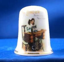 Birchcroft Thimble -- Vintage Advertising --- Singer Sewing  -- Free Dome Box
