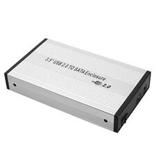 3.5 inch Silver USB 2.0 SATA External HDD HD Hard Drive Enclosure Case Box
