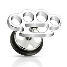 Surgical Stainless Steel Knuckle Duster Stud Earring by Urban Male