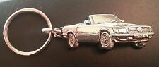 Mercedes MB Schlüsselanhänger 107 380 SL silbern relief - Maße Fahrzeug 51x19mm