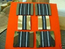 2 x RAF Officers Rank Slides with Material Backing