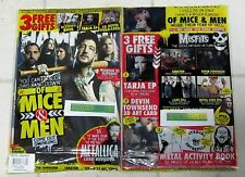 METAL HAMMER + Free CD Sept 2016 OF MICE & MEN Metallica Load +Gifts CARD & Book