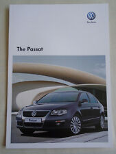 VW Passat Saloon range brochure Jul 2009 includes R36