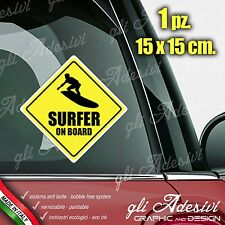 Adesivo Stickers Auto Moto Camper SURFER ON BOARD segnale a bordo