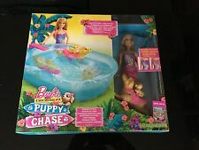 Barbie DMC32-puppy chase natation chiot piscine et poupée box set (new)