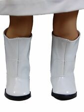 "6 PAIR COLLECTABLE DOLL SHOES FOR 18"" Dolls White GoGo Boots WHOLESALE"