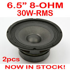 "2x 6.5"" 30WRMS 8 Ohms PA DJ Speaker Subwoofer Woofer Sub Driver 6.5 Inch Quality"