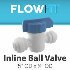 """Express Water 1/4"""" Straight Inline Ball Valve Quick Connect Parts Water Filters"""
