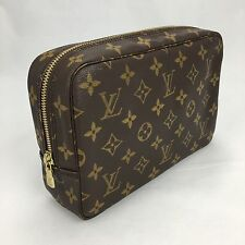 US Seller Louis Vuitton Monogram Canvas Trousse 23 Toiletry Makeup Bag Clutch