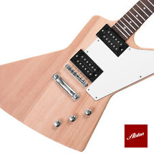 DIY Project Guitar Kit Explorer Style Solid Mahogany Set In Neck A009.1