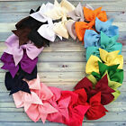 Lot 20Pcs Hair Bows Boutique Baby Girl Hair Grosgrain Ribbon Alligator Clip