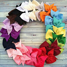 20Pcs Lot Hair Bows Boutique Baby Girls Hair Grosgrain Ribbon Alligator Clip