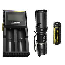 Nitecore MT10A Flashlight w/Nitecore D2 Charger & IMR 14500 Battery