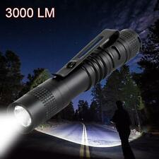 CREE Q5 LED Tactical Flashlight 3000 Lm Bright Torch Lamp Mini Pen Light AAA SP