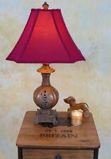 Tischlampe Lampe Stehleuchte Tischleuchte Stoffschirm antik Look PQ004-a