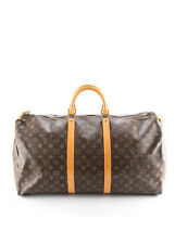 LOUIS VUITTON Brown Coated Canvas Monogram Keepall Travel Handbag FAN3117 JHL
