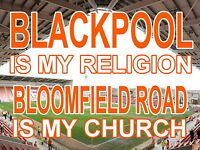 Blackpool is my Religion Bloomfield Road is my Church Sign / metal Aluminium