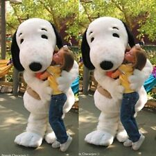 Snoopy white dog character fancy dress cos party game Mascot Costume Adult Suit
