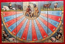 FANTASTIC 1883 Bulls and Bears Board Game - GREATEST RAREST - board only