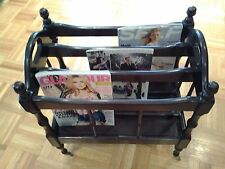 Beautiful Canterbury Magazine Rack Stand with Wheels - FREE SHIPPING!