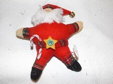 """VINTAGE SANTA BY RUSS BERRIE FATHER CHRISTMAS TREE HANGING DECORATION 5½"""" TALL"""