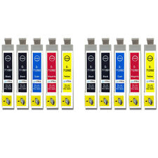 10 Ink Cartridges for Epson Stylus D92 DX5000 DX7450 BX300F SX100 SX218 SX610FW