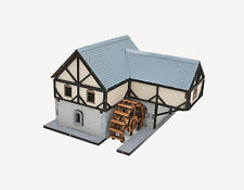 15MM WARGAMES SCENERY EUROPEAN WATERMILL BUILDING KIT FLAMES OF WAR-BOLT ACTION