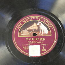 78rpm GEORGE BAKER star of my soul / in the shade of the palm