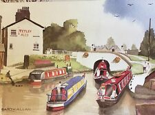 m3f ephemera undated picture summer at king's lock middlewich canal garth allan