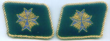 German Army Blue Max Pour le Merite Order Officer Red Baron Uniform Collar Tabs