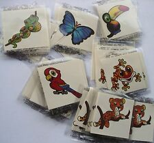 RAIN FOREST TATTOOS   LOT 0F 216 CARNIVALS, PARTIES TOYS FAVORS