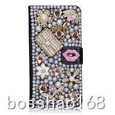 Luxury Bling Crystal leather wallet case cover for LG Stylo 2 Plus Stylus 2 Plus
