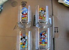 4 Walt Disney Mickey Mouse Celebration Glasses Featuring Epcot etc.  McDonalds