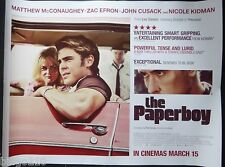 THE PAPERBOY ORIGINAL 2013 CINEMA QUAD POSTER NICOLE KIDMAN ZAC EFRON