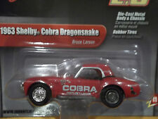 JOHNNY LIGHTNING 1/64 2.0 RELEASE 11 1963 SHELBY COBRA DRAGONSNAKE BRUCE LARSON