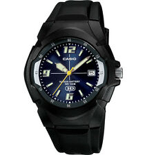 Casio MW600F-2AV, Men's Watch, Black Resin, Blue Dial, Date, 10 Year Battery