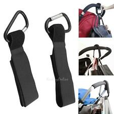4x Universal Pram Pushchair Stroller Hook Shopping Bag Mummy Buggy Clip Aluminum