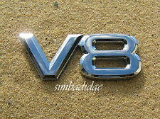 ~ V8 CAR BADGE  *New* Chrome Plastic Emblem - Toyota Landcruiser Lexus