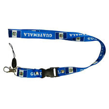 GUATEMALA BLUE COUNTRY FLAG LANYARD KEYCHAIN PASSHOLDER .. NEW