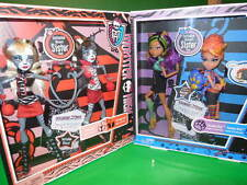MONSTER HIGH 2 RARE SETS OF SISTERS,  DON'T MISS OUT ON THIS   NEW IN PACKAGES