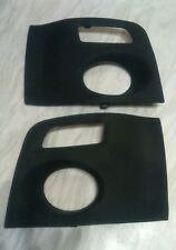 PAIR OF GENUINE MG ZR MK2 FRONT BUMPER FOGLIGHT COVERS/SURROUNDS, 2004 ONWARDS