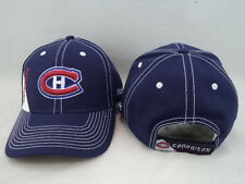 Montreal Canadiens Reebok NHL Blue W/ White Stitching Adjustable Hat Cap