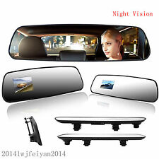 "Car 2.4""LCD DVR Video Rearview Mirror Recorder Night Vision HD Camera Tachograph"