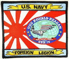USN CVN-76 USS Ronald Reagan The Foreign Legion which protects Japan patch