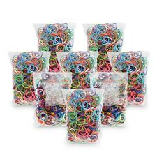 600 RAINBOW LOOM Band Refill Sets & 15 S-Clips, All Colors
