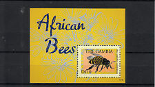 Gambia 2013 MNH African Bees 1v Sheet Apis Insects Bee Stamps