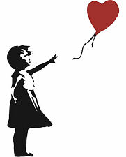 BANKSY Balloon Girl Adesivo Decalcomania Muro Auto Furgone Laptop Bicicletta