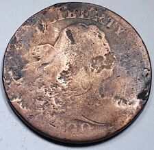 1800 US Half Cent Braided Hair Hay Penny Antique U.S. Currency Vintage USA Money