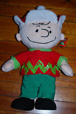 "NEW 22"" Peanuts Charlie Brown Holiday Christmas Porch Greeter Stuffed Figure"